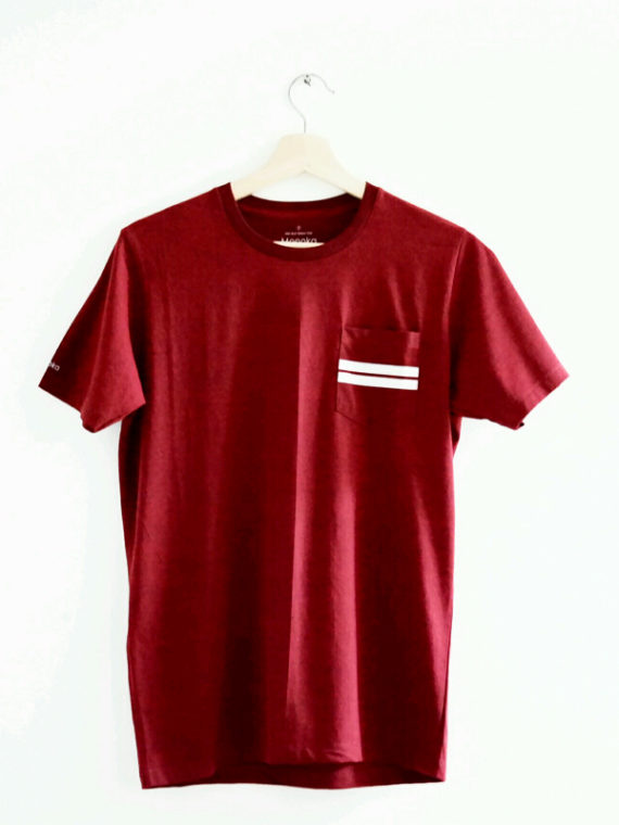 Men SS Pocket T-Shirt Maroon-1