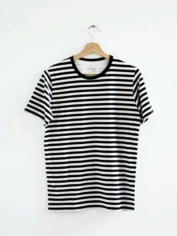 Men SS Stripe T-Shirt Black-1
